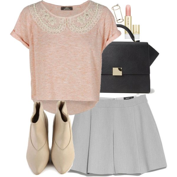 A fashion look from October 2014 featuring MANGO skirts, Forever 21 handbags and Topshop rings. Browse and shop related looks.
