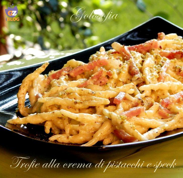 Trofie alla crema di pistacchi e speck, cremose, velocissime e saporite! un…