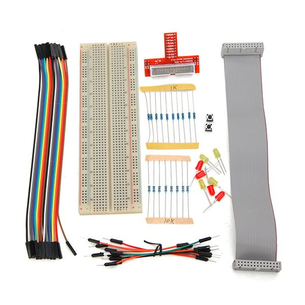 Raspberry Pi kit Expansion Board + Breadboard + 10K Resistor + Yellow/ Red LED + Bread/ Dupont line For Raspberry Pi Starter #Affiliate