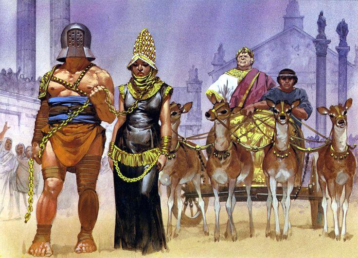 Queen Zenobia paraded ...