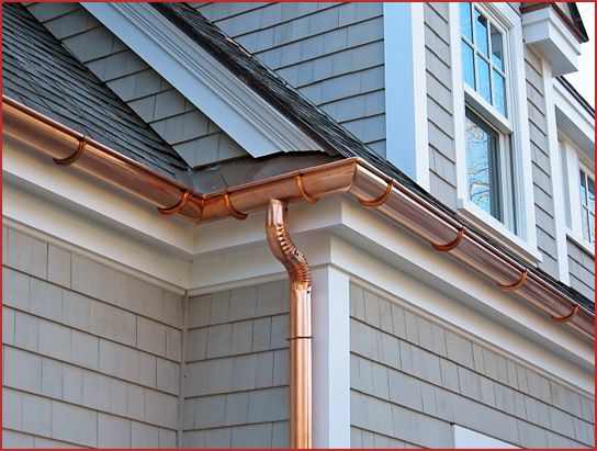 Image result for Copper Gutters or Aluminum Gutters