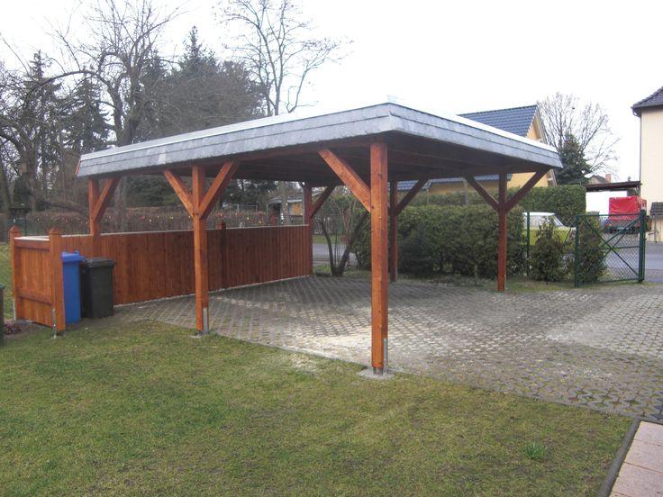 Flachdach Carport Holz bauen lassen Berlin Brandenburg
