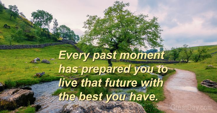 The Daily Motivator - New possibilities up ahead  ||  Your future is ready to begin, and there is much you have to offer it. Make good and meaningful use of it all, and make it the best time ever. http://greatday.com/motivate/171230.html#thbGSR3Q7pl331Oe.01?utm_campaign=crowdfire&utm_content=crowdfire&utm_medium=social&utm_source=pinterest