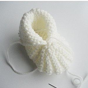 Petits chaussons faciles au tricot