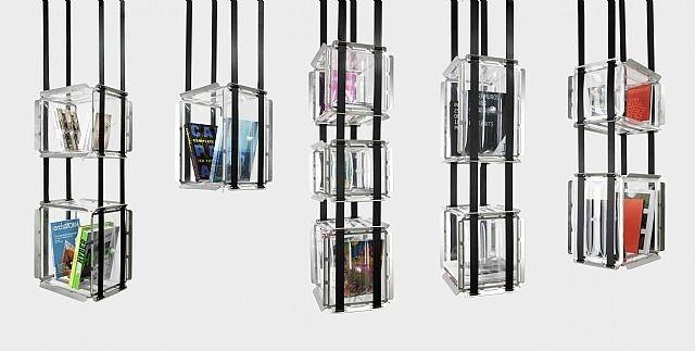 """""""Upside Down"""" suspended bookcase / Bibliothèque suspendue """"Upside Down"""" by Adrien de Melo: Innovation Bookshelves, Bookshelf Design, Bookshelves Beautiful, Books Shelves, Unusual Bookshelves, Beautiful Bookshelves, Suspenders Bookca, Bookshelves Libraries Nooks, Hanging Bookshelves"""