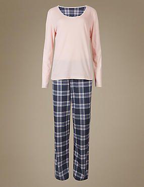 Pure Cotton Printed Long Sleeve Pyjamas