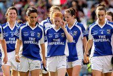 2011 TG4 All Ireland Ladies Intermediate Football Championship Final 25/9/2011. Cavan. The Cavan squad after defeat