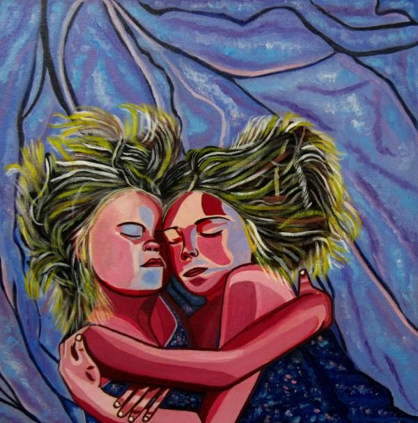 Sisters was inspired by the wonderful love that is shared between my daughters. As siblings they have faced more challenges than most and have an incredible bond with each other. @Sandra Marie Adams