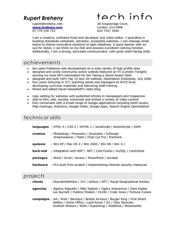 film resume examples sample video filmmaker for crew production - ruby on rails developer resume