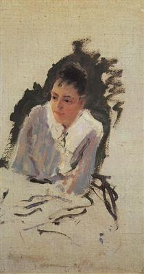 Portrait ofthe artistM.V.Yakunchikova - Konstantin Korovin