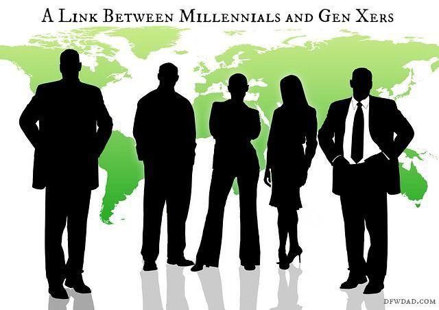 What is the link between millennials and Gen Xers?