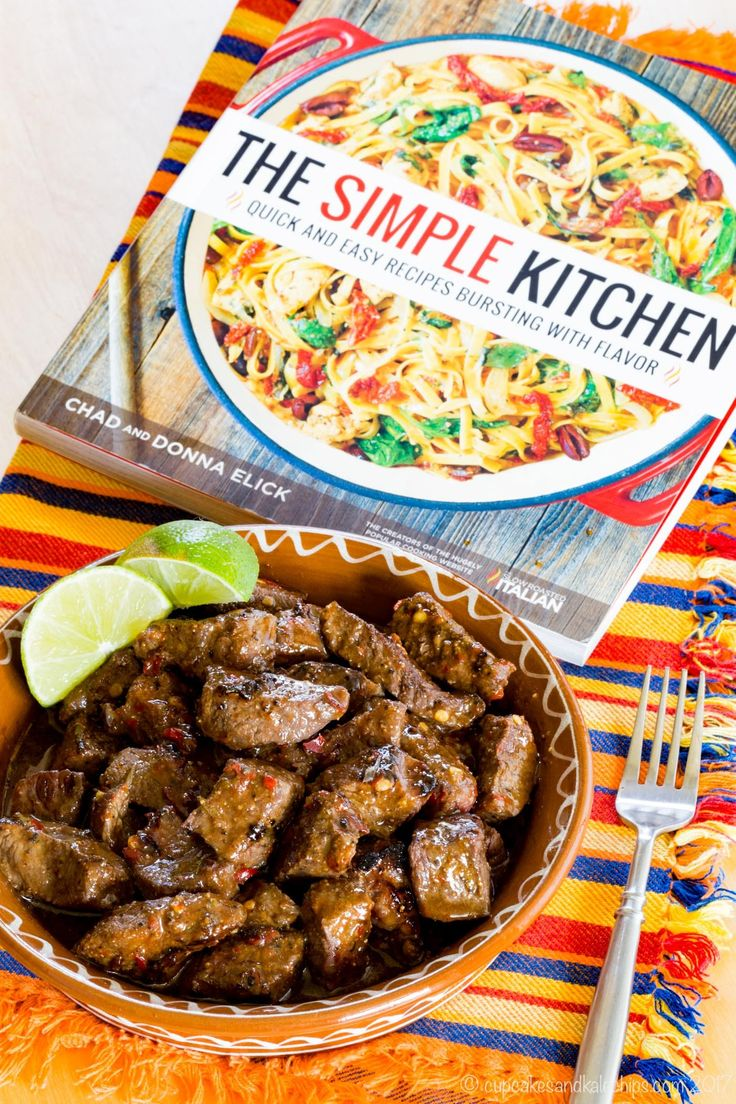 Mexican Chili Lime Steak Bites from The Simple Kitchen Cookbook