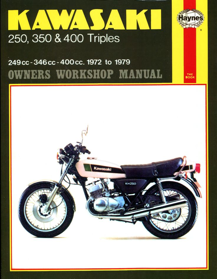 Haynes M134 Repair Manual for 1972-76 Kawasaki 250, 350 and 400 triples S1 series