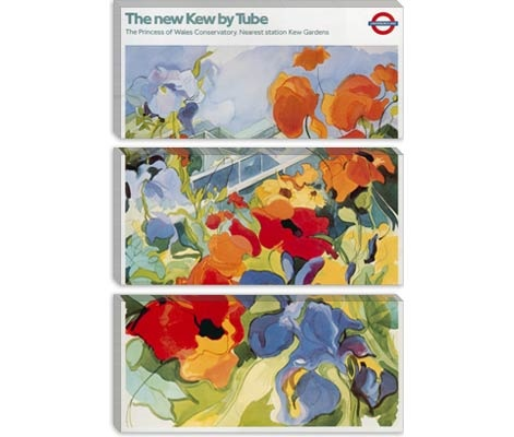 The new Kew (Gardens) London Underground Vintage Poster Canvas Print - iCanvasART.com