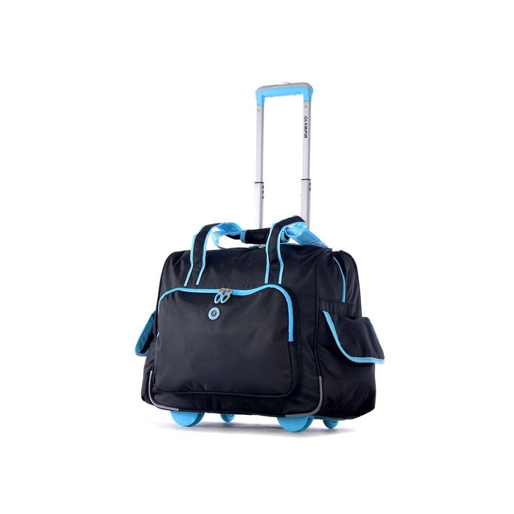 Olympia Rave 15-Inch Laptop Wheeled Overnighter Bag, Blue