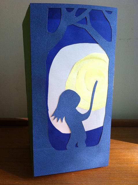 Martinmas papercut lantern