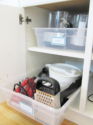 Dica de organização para a cozinha – Armazenamento em caixas/tapoer