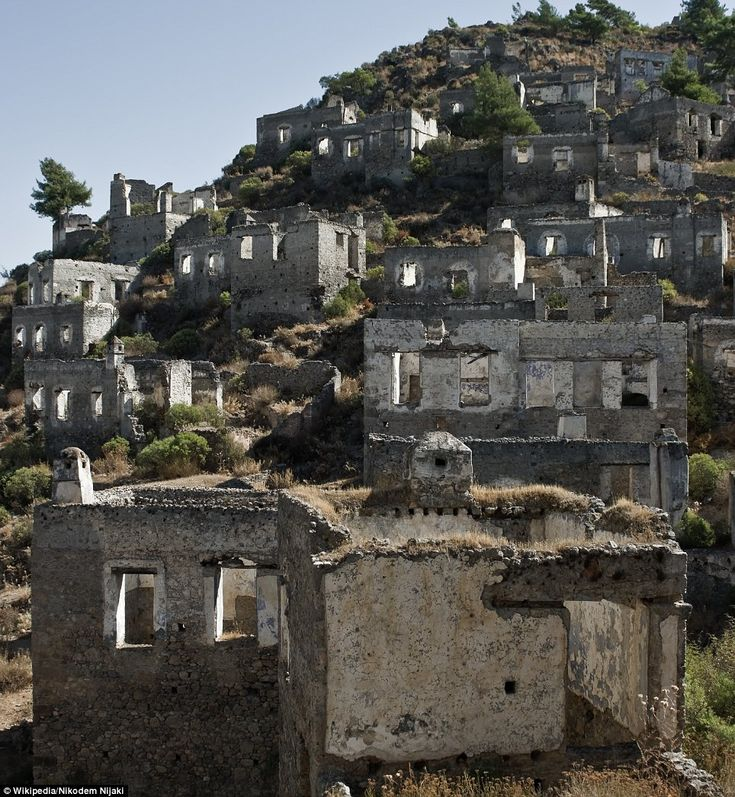 Kayaköy, Fethiye District, Turkey: This city was devastated by an earthquake in 1856 and a major fire in 1885