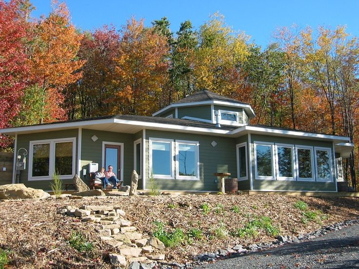 Exterior view of Passive Solar home.