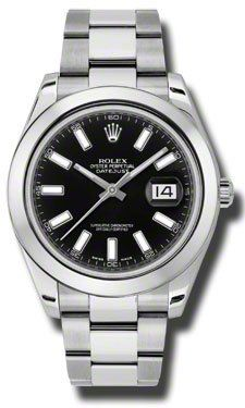 Rolex Watch: Rolex Datejust II Black Dial Stainless Steel Automatic Mens Watch, Price: $6,995.00 http://amzn.to/MTnxQ6