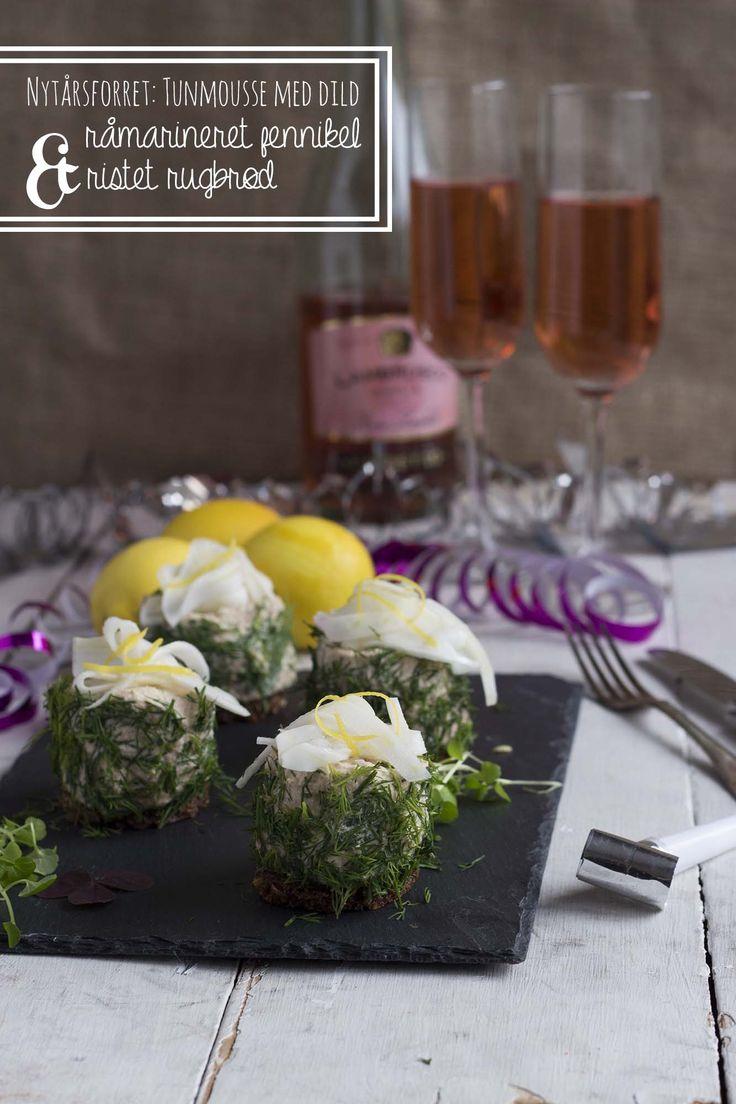 Nem, lækker og billig nytårsforret: Tunmousse med dild, råmarineret fennikel og ristet rugbrød