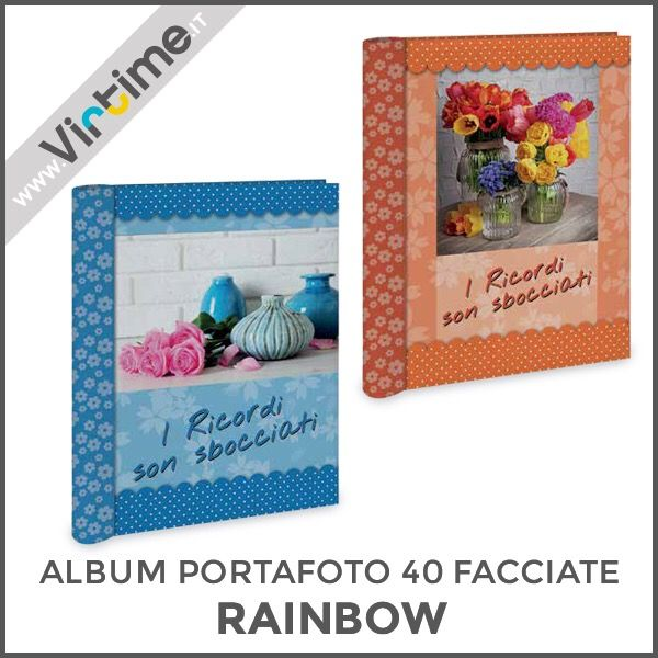"Album portafoto 40 facciate adesive, modello ""RAINBOW"". Disponibile in 4 versioni. Confezione: termoretraibile Dimensioni: 21 x 27 cm Ref.: S36208/07 #Virtime #virtimeclock #virtimehome #milan #italy #italiandesign #interiordesign #decoring #italianfurniture #house #homeart #photography #photobook #photoshoot #photographylovers #pictures #quality #fotografia #linkinbio #photobooth #lovethem #love #nature #flowers  #lavender #iloveyou  #I #YOU"