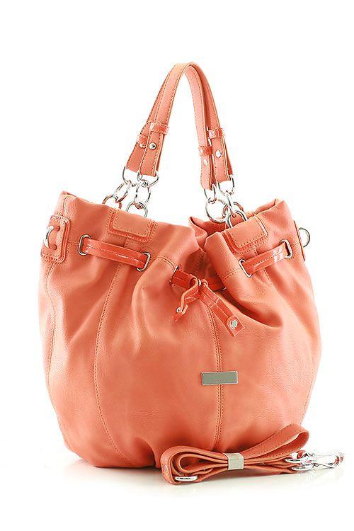 Peach Aria Hobo Bag #women #fashion #ladies #purse #peach #orange