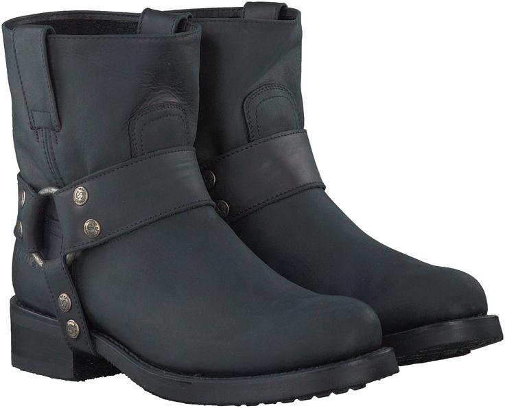 Zwarte Sendra Korte laarzen 9077 RONDE LEEST