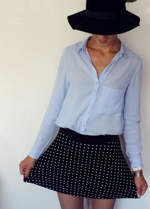 Kup mój przedmiot na #Vinted http://www.vinted.pl/kobiety/spodnice/9482983-czarna-spodniczka-na-gumce-w-kropki