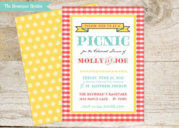 70 best images about Picnic Theme Party – Picnic Party Invitations