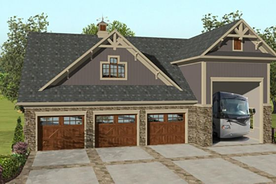 Garage with an Apartment in the back with bedrooms above