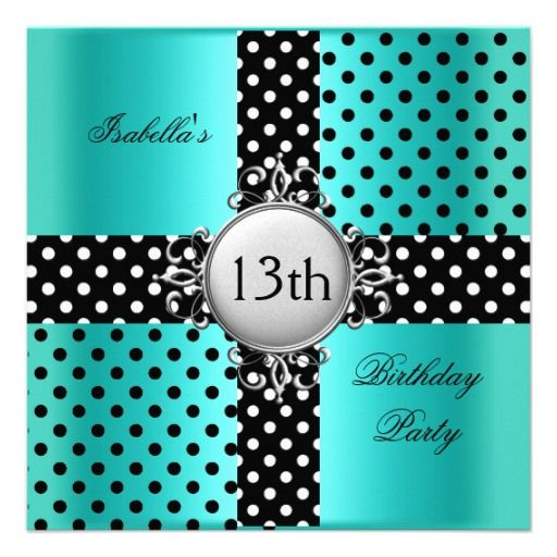 1000+ Images About 13th Birthday Party Invitations On