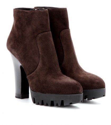 #MiuMiu Suede platform ankle boots
