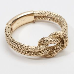 rope infinity knot ring