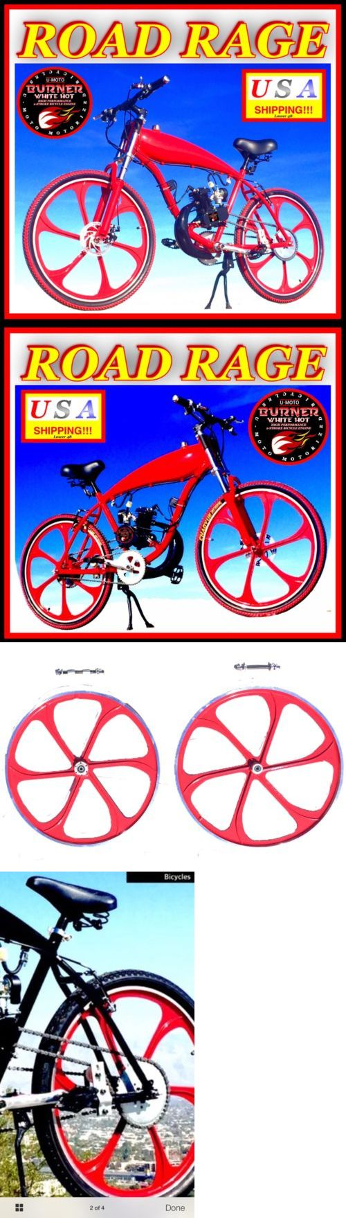 Gas Scooters 75211: Ultra Diy 2-Stroke 66Cc 80Cc Motorized Bicycle Kit With 26 Red Gas Tank Bike -> BUY IT NOW ONLY: $699.99 on eBay!