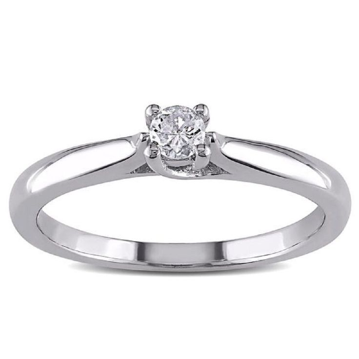 Awesome  14k-White-Gold-Solitaire-VVS1-1.00ct Engagement Wedding Ring For Women #goldjewellery17 #Solitaire