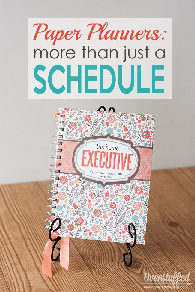 Paper planners are so much more than just a schedule on a calendar. They are a way to keep every aspect of your life in order. #overstuffedlife