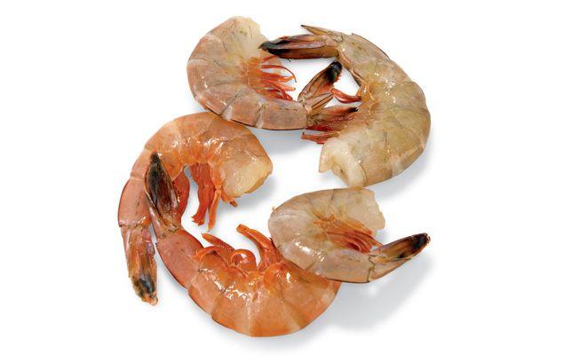 Shrimp  http://www.menshealth.com/nutrition/shrimp-nutrition-facts