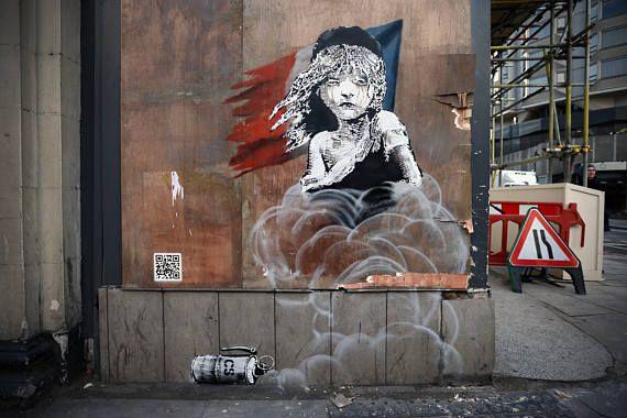 Banksy Canvas (READY TO HANG) - Calais Refugee - Multiple Canvas Sizes