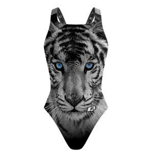 White Tiger Classic Strap. Tiger Tiger burning bright, in the pool of the night. #qswimwear