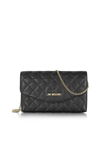 Love+Moschino+Evening+Quilted+Eco+Leather+Crossbody+Bag