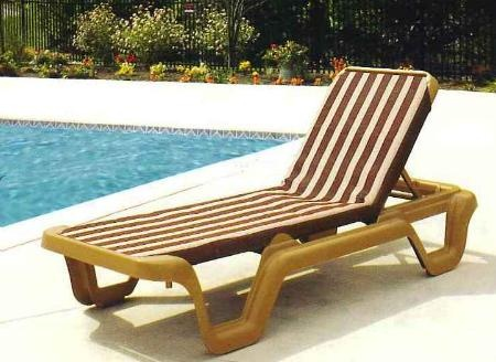 marina style resin sling chaise lounge chair wo arms custom pool