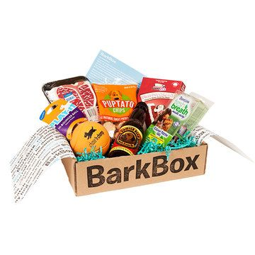 BarkBox: 3 Month Subscription - this is such a cute idea! each month a box of goodies arrives for your dog! :D