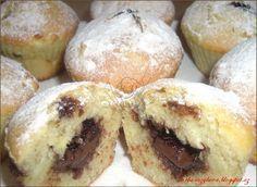 jablečné muffiny s nutelovou naplní