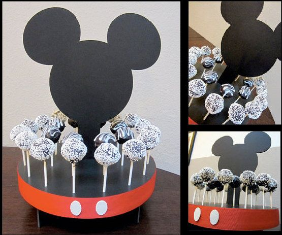Mouse Inspired Cake Pop Stand  -I could make this--