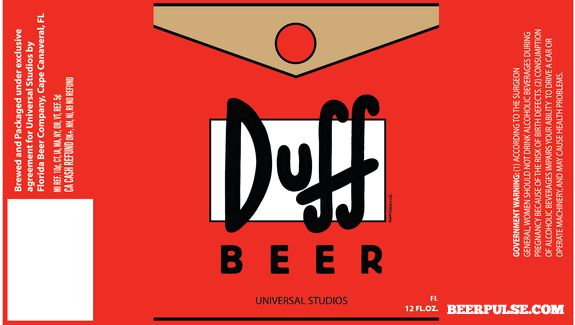 Duff Beer Labels