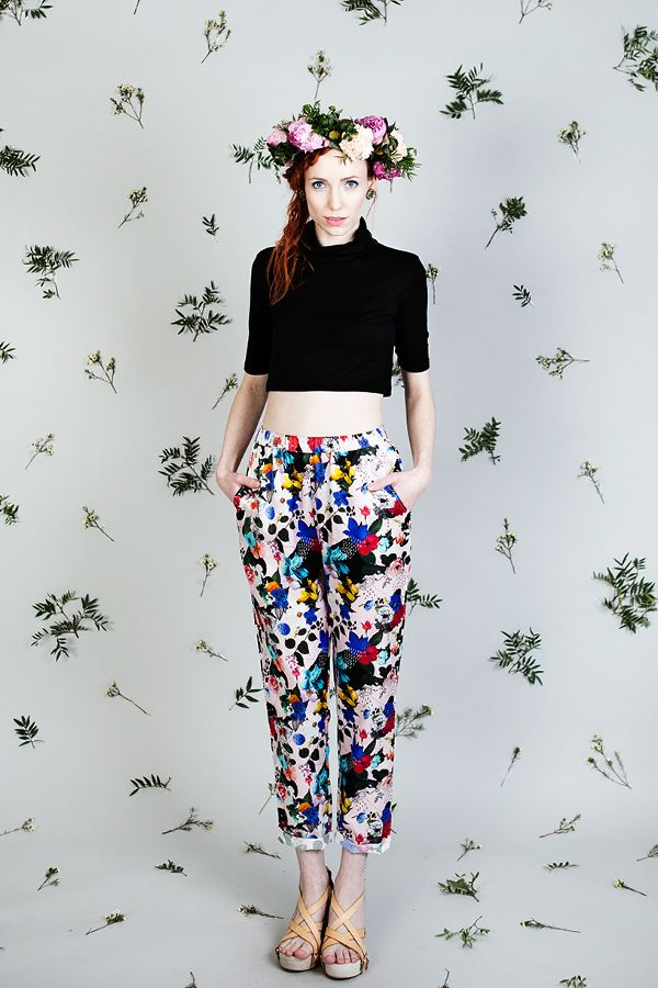 Uhana Design SS16 collection flower pants.
