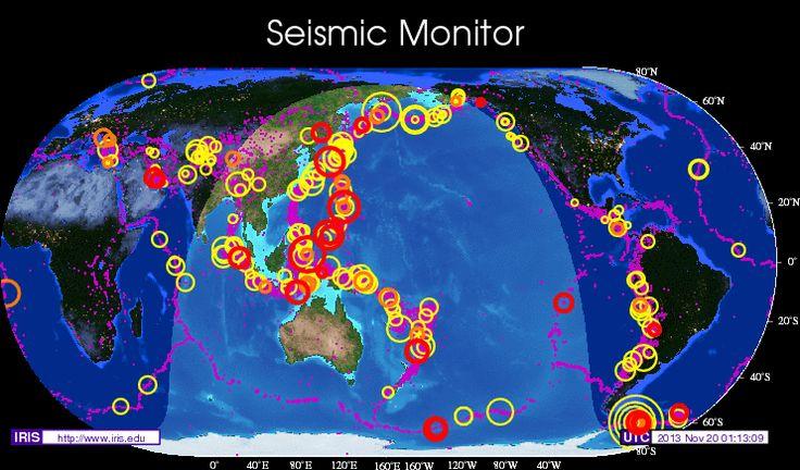 Moniteur de tremblements de terre