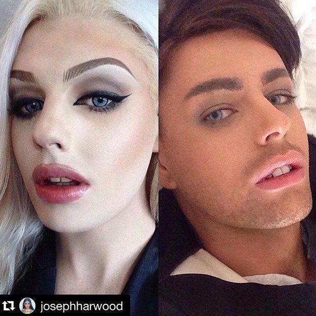 @josephharwood () -> DM your #beforeandafter ! ** transformationtuesday #makeup #instamood #tranny #tgirl #shemale androgynous #dragqueen #transvestite #transgender #transexual girl #dragqueenmakeup #ladyboy #makeup #instagay #mtf #rupauldragrace #drag #crossdressing #photooftheday #lgbt #queer #crossdresser diva  #rupaul #crossdress #travesti #transformation #genderfluid  #men #women #artist twoface style boyandgirl world gay lesbian lgbt gayworld