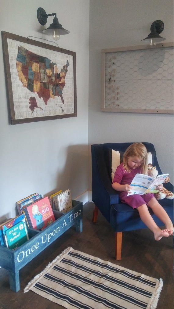 Nursery Bookcase Book Bin Kids Storage